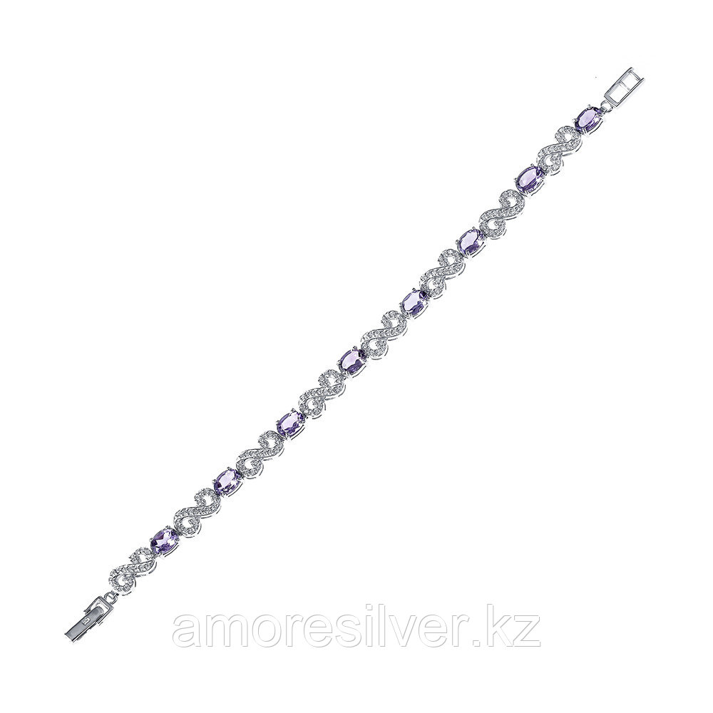 Серебряный браслет с аметистом   Teosa B-DRGR00616-AM