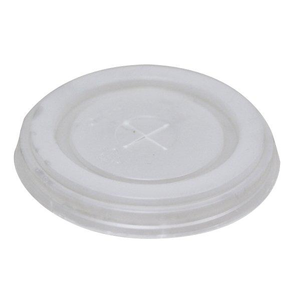 Крышка д/стаканов, д/хол., d 80мм, бел., центральное отверстие, ПС, 1760 шт