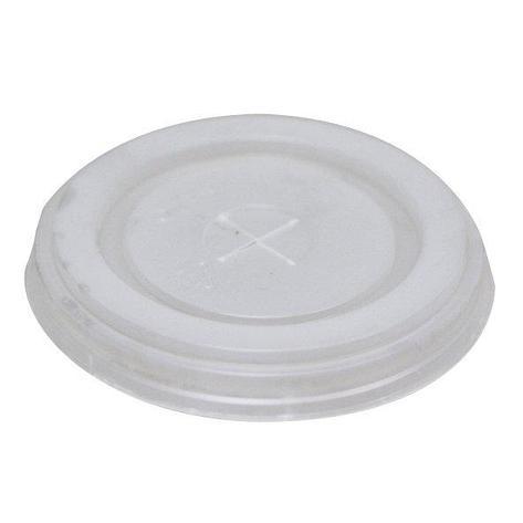 Крышка д/стаканов, д/хол., d 80мм, бел., центральное отверстие, ПС, 1760 шт, фото 2