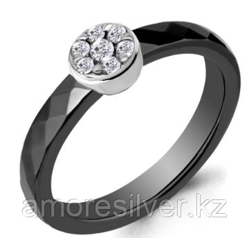 Серебряное кольцо с керамикой   Аквамарин 68465