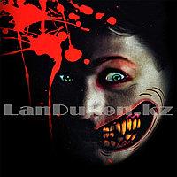 Временная татуировка на Хэллоуин в виде рта + зашитый шрам M-05