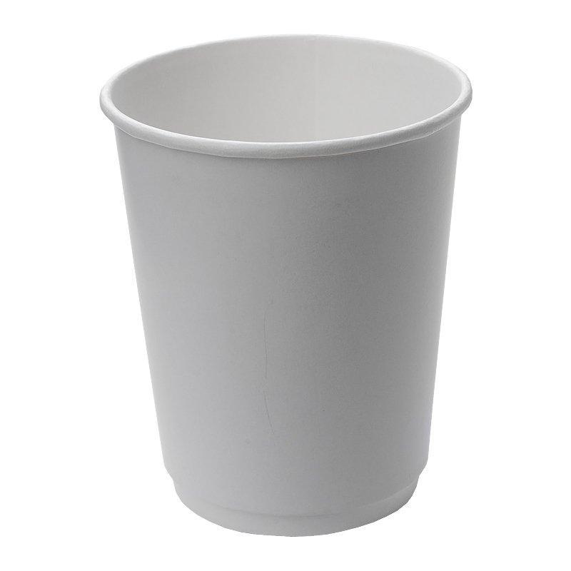 Стакан для холодного и горячего, 0.25/0.273л, без печати, белый, картон, двухслойный, 500 шт