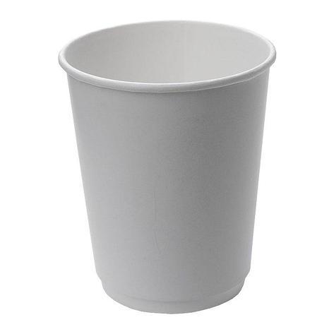 Стакан для холодного и горячего, 0.25/0.273л, без печати, белый, картон, двухслойный, 500 шт, фото 2