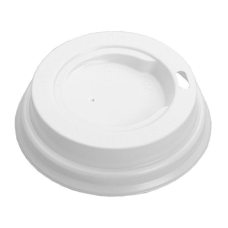 Крышка д/стаканов, д/хол./гор., d 73мм, бел., К73, ПС, 100 шт