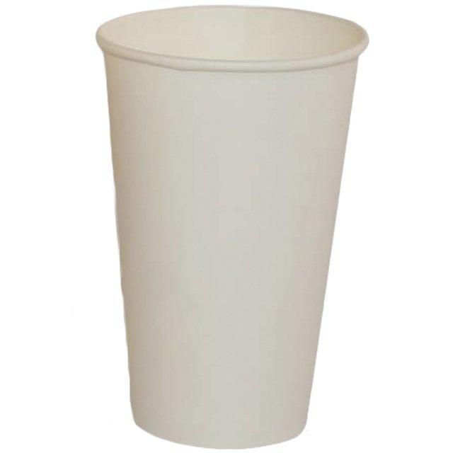 Стакан для холодных и горячих напитков, 0.4/0.518л, белый, 1000 шт