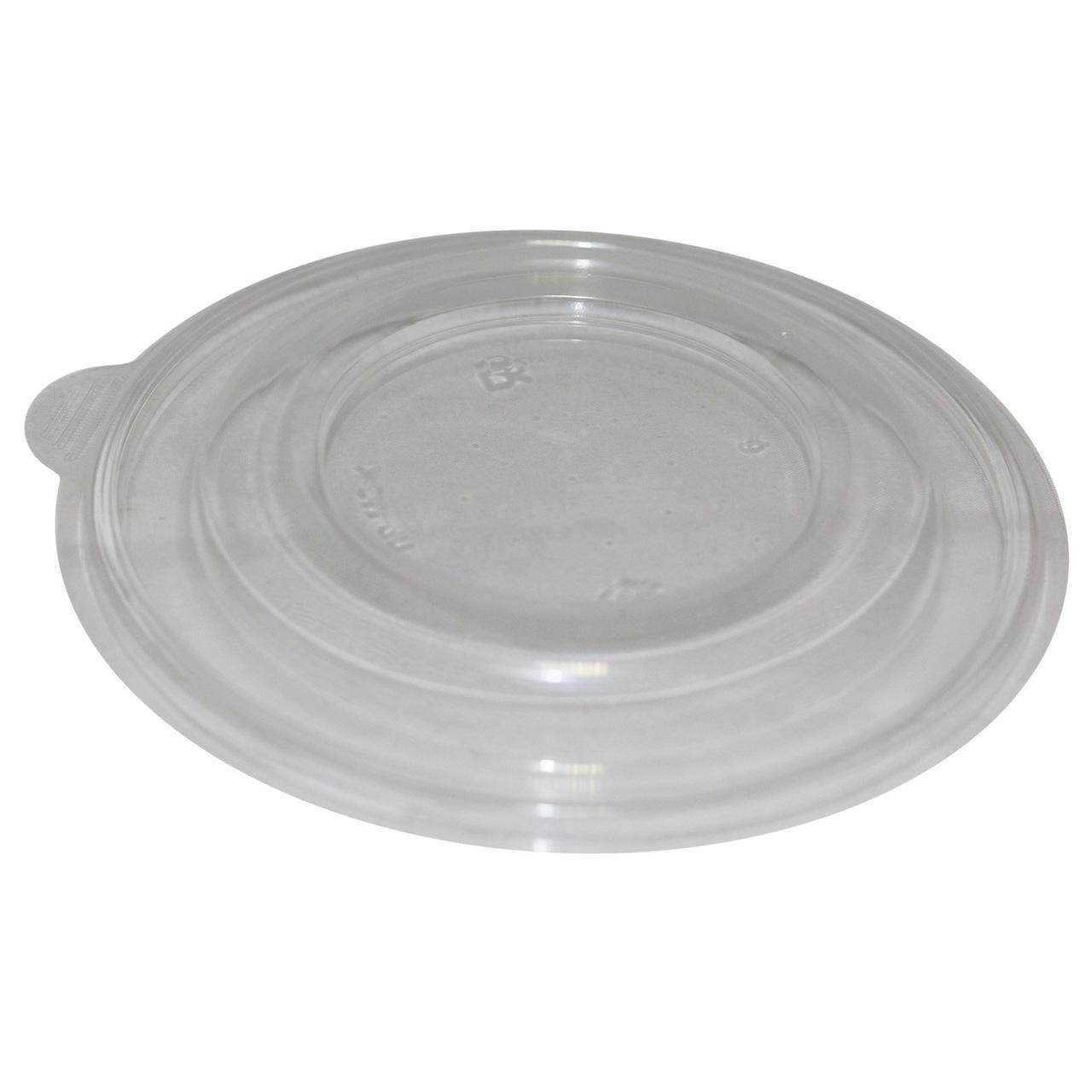 Крышка круглая d-144мм, к миске с отверстием, прозрач., PP, 540 шт