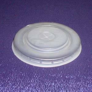 Крышка д/стаканов, d 80мм, бел., центральное отверстие, ПС, 2400 шт