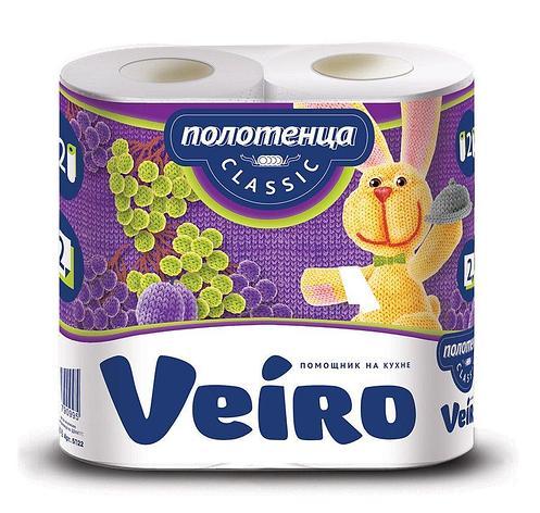 Полотенца бумажные 2сл. 2 рул. VEIRO Classic , 2 шт, фото 2