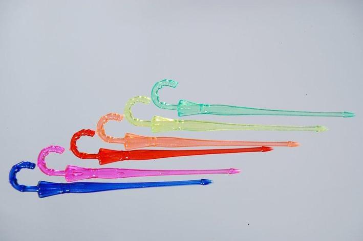 "Пика ""Зонтик"" 90 мм, цветн.  ПС, 25 шт, фото 2"