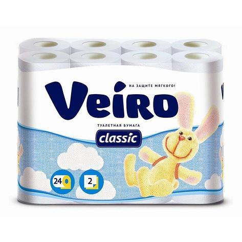 Бумага туалетная 2сл. 24шт. VEIRO Classic  , 24 шт, фото 2