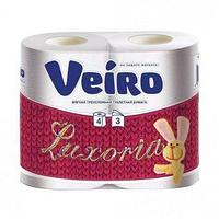 Бумага туалетная 3сл. 4шт. VEIRO Luxoria , 4 шт
