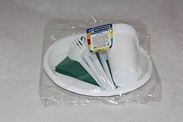 """Набор """"Пикник"""" ( 6 стак 0,2л., 6 тарелок, 6 вилок, 6 ножей,  6 салф.цветная)"""