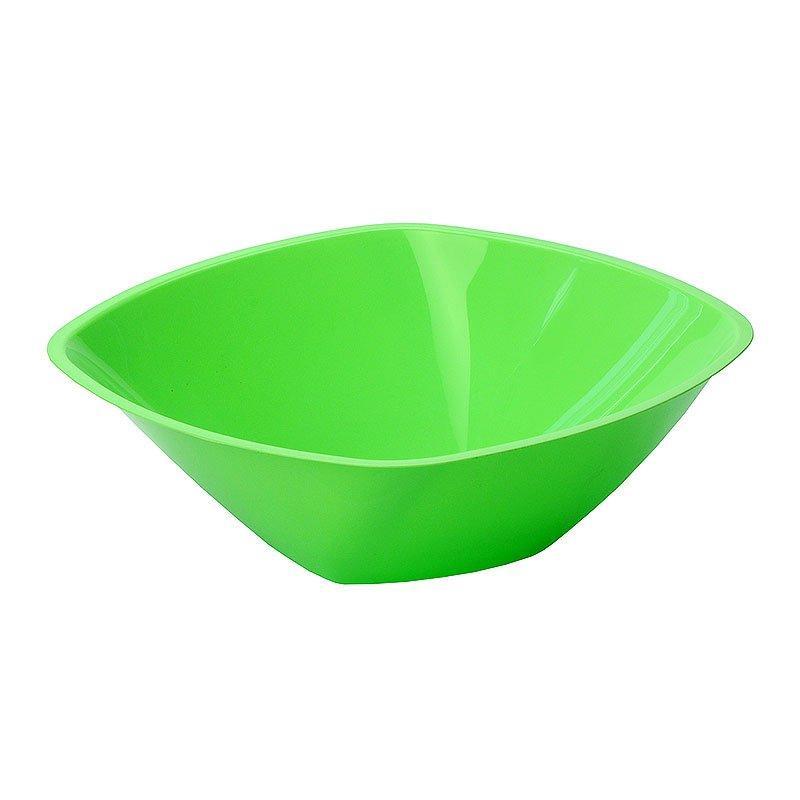Салатник 1.25л, квадратный, 210х210мм, салатовый, 3 шт