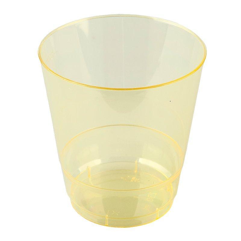 Стакан для холодных напитков, объем 0.20л, Кристалл, желтый, 6 шт