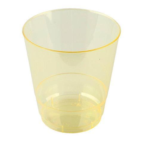 Стакан для холодных напитков, объем 0.20л, Кристалл, желтый, 6 шт, фото 2