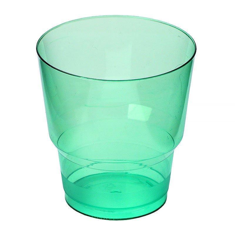 "Стакан д/хол 0.20л ""Кристалл"" зеленый, ПС, 6 шт"