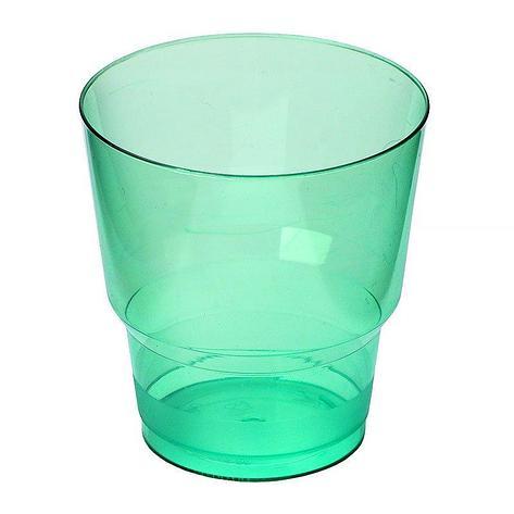 """Стакан д/хол 0.20л """"Кристалл"""" зеленый, ПС, 6 шт, фото 2"""