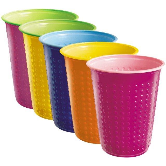 Стакан для холодного, горячего, объем 0.2л, Bicolor, цвет в ассортименте, 6 шт