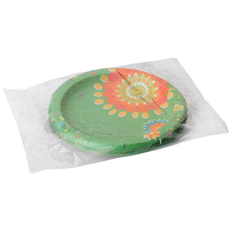 Тарелка d=180 мм дизайн Цветочная коллекция, 10 шт