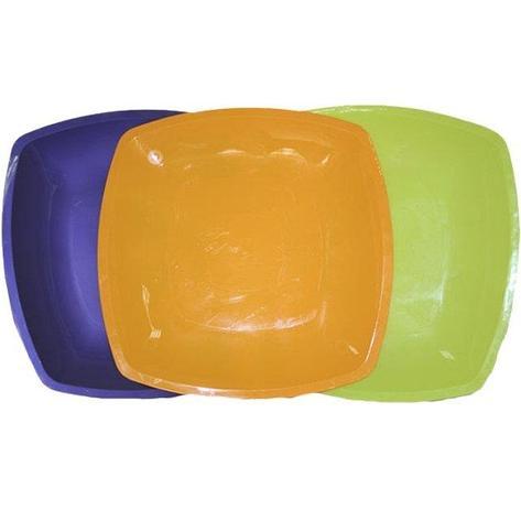Тарелка - блюдо, квадратная Цвета в ассортименте,300мм   ПП, 3 шт, фото 2