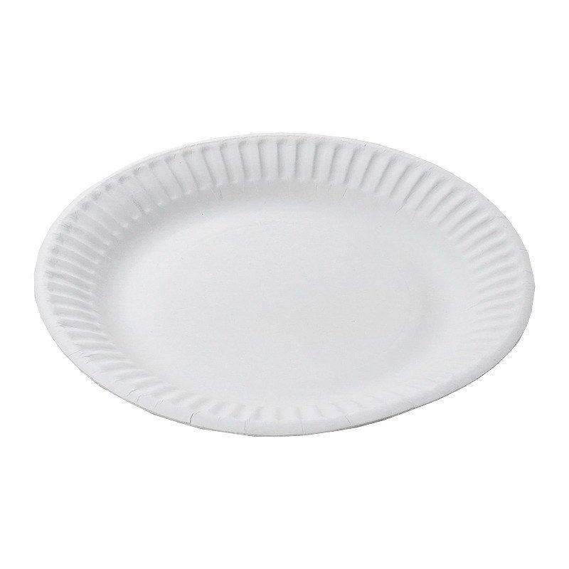 Тарелка d 170мм, белая, картон, 12 шт