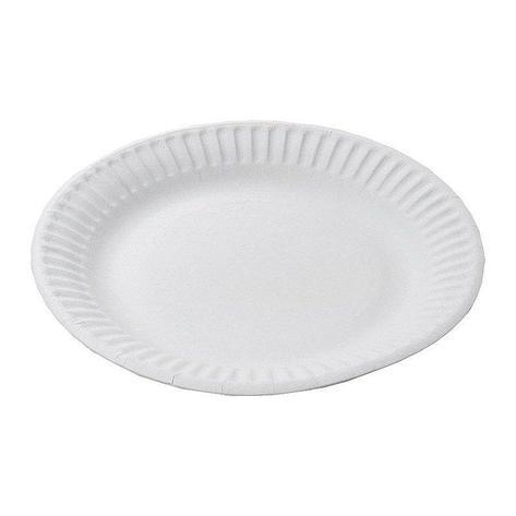 Тарелка d 170мм, белая, картон, 12 шт, фото 2