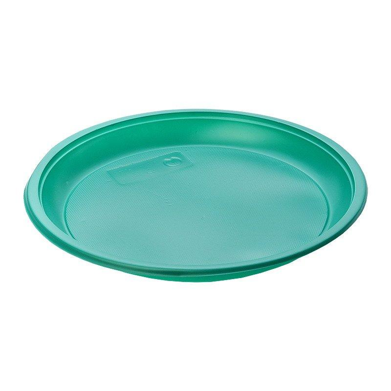 Тарелка d 210мм, зеленая, 12 шт