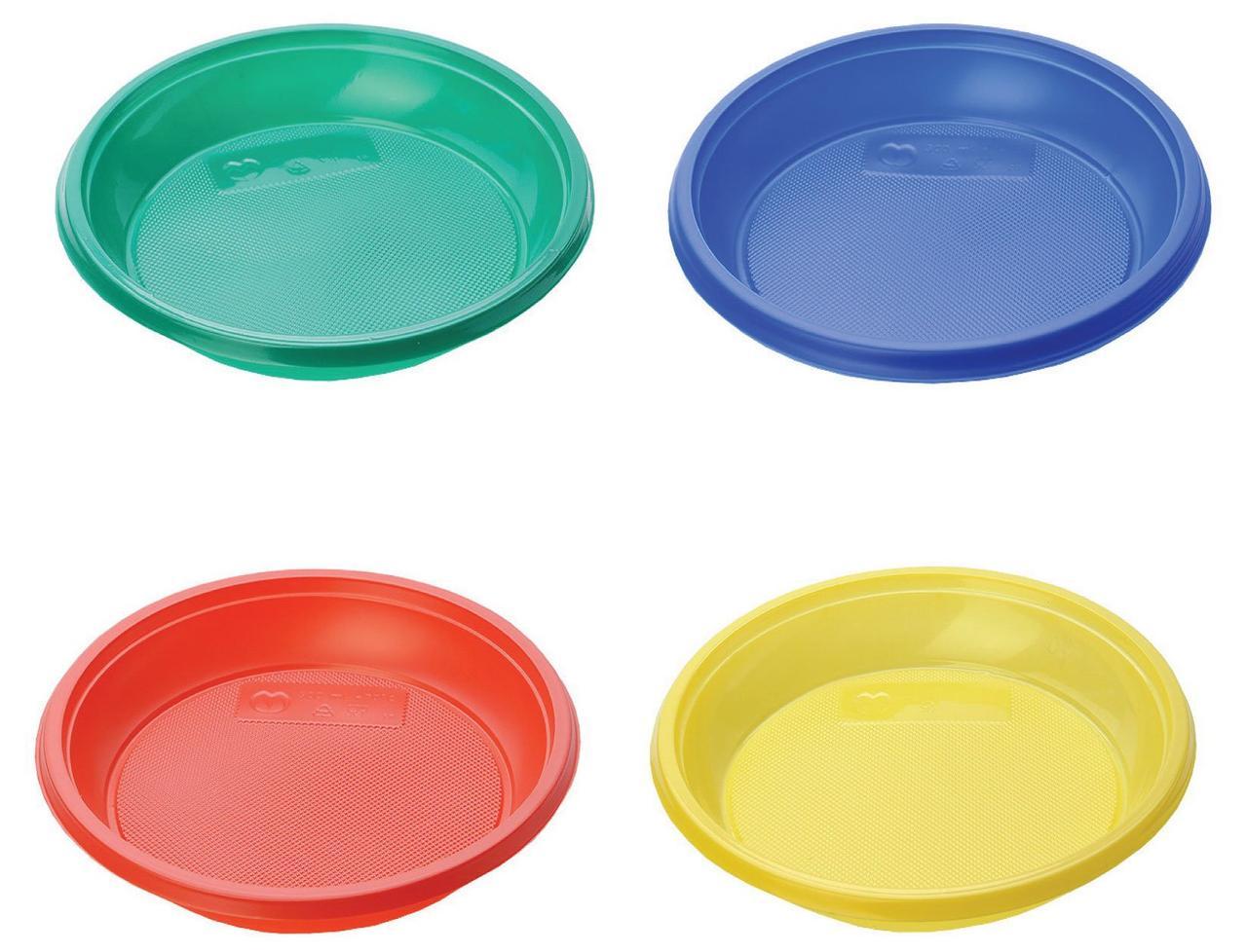 Тарелка десертная, d 170мм, цвета в ассортименте, 12 шт