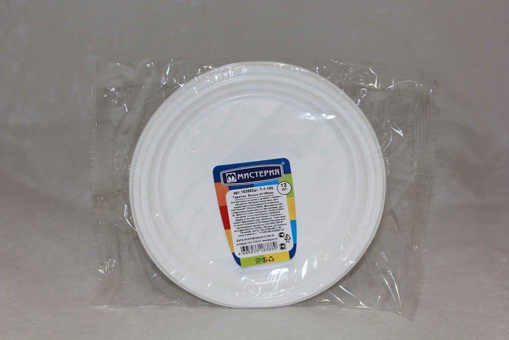 Тарелка десертн., d 165мм, бел., ПС, 12 шт