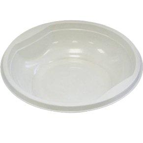 Тарелка для салата 350мл белая ПП, 12 шт