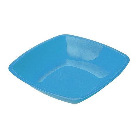 Тарелка квадратн., 180мм, глубок., голуб., ПП, 6 шт, фото 2
