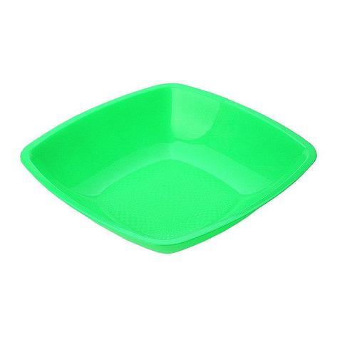 Тарелка квадратная глубокая , салатовая, 180мм , 6 шт, фото 2