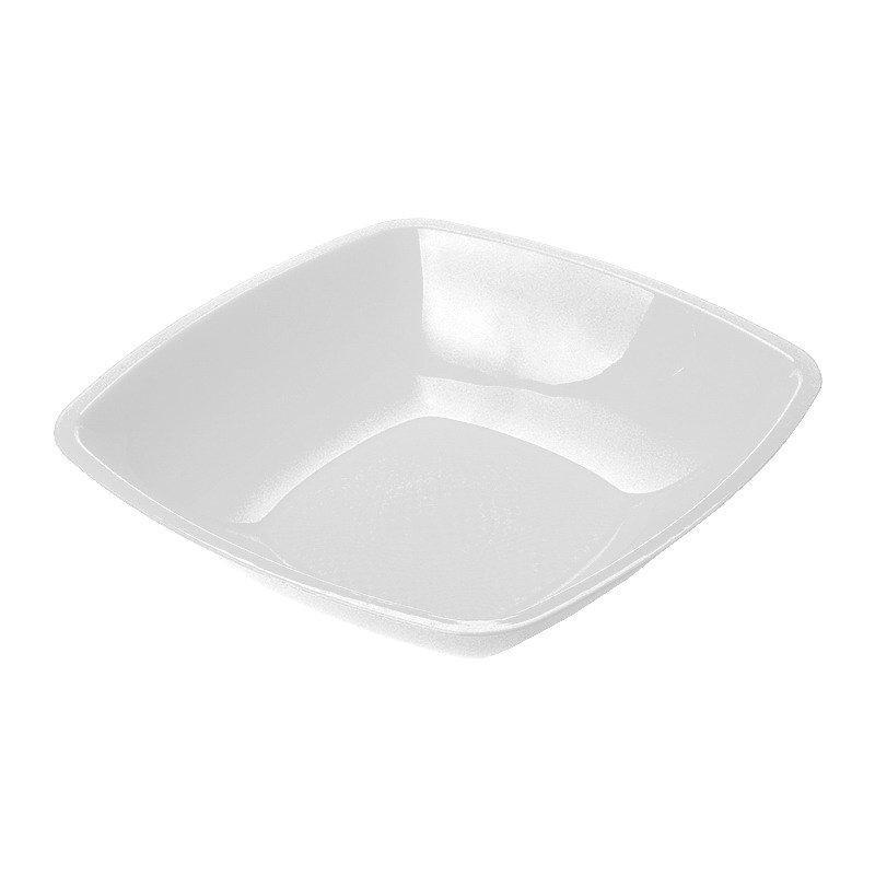 Тарелка квадратная глубокая, белая, 180мм , 6 шт