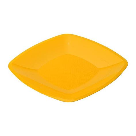 Тарелка квадратная плоская, желтая, 180мм, 6 шт, фото 2