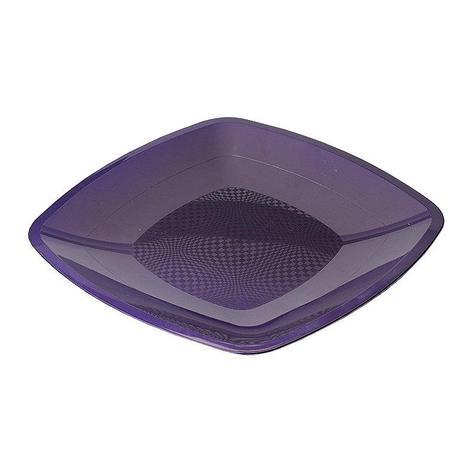 Тарелка квадратная плоская, сиреневая, 180мм, 6 шт, фото 2