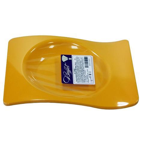 """Тарелка прямоуг., 180х220мм, """"волна"""", оранж., ПС, 6 шт, фото 2"""