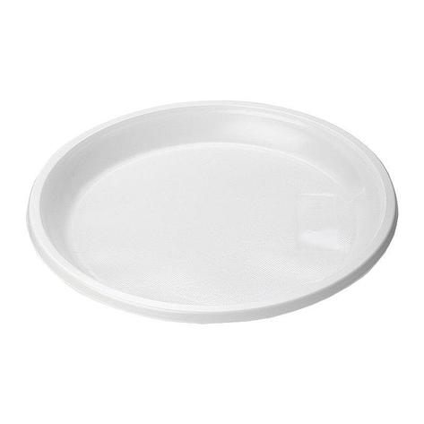 Тарелка, d 205мм, белая, 12 штук, 12 шт, фото 2