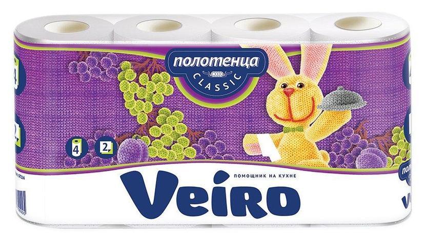 Полотенца бумажные 2сл. 4 рул. VEIRO Classic , 4 шт, фото 2