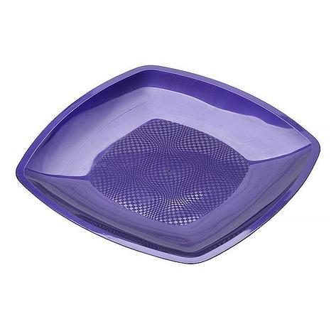 Тарелка квадратная плоская, сиреневая, 230мм, , 6 шт, фото 2
