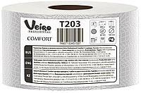 "Бумага туалетная ""Veiro Professional Comfort"", 200м, 1600лист/рул, 2 сл., бел., Бумага"
