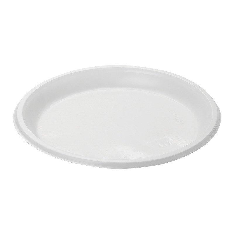 Тарелка, d 205мм, белая, 100 шт