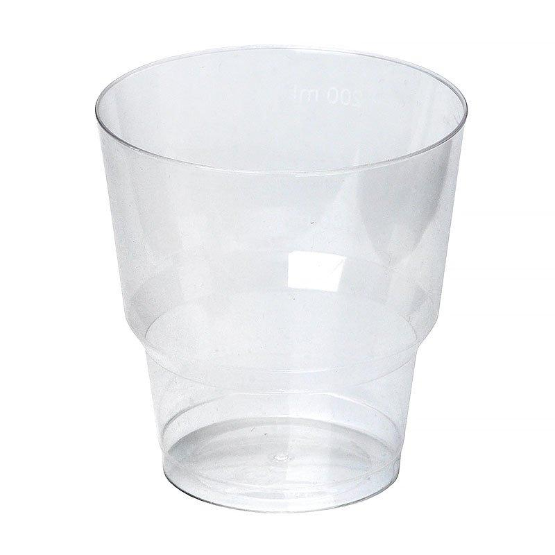 Стакан для холодного, объем 0.20 л, кристалл, прозрачный, 50 шт