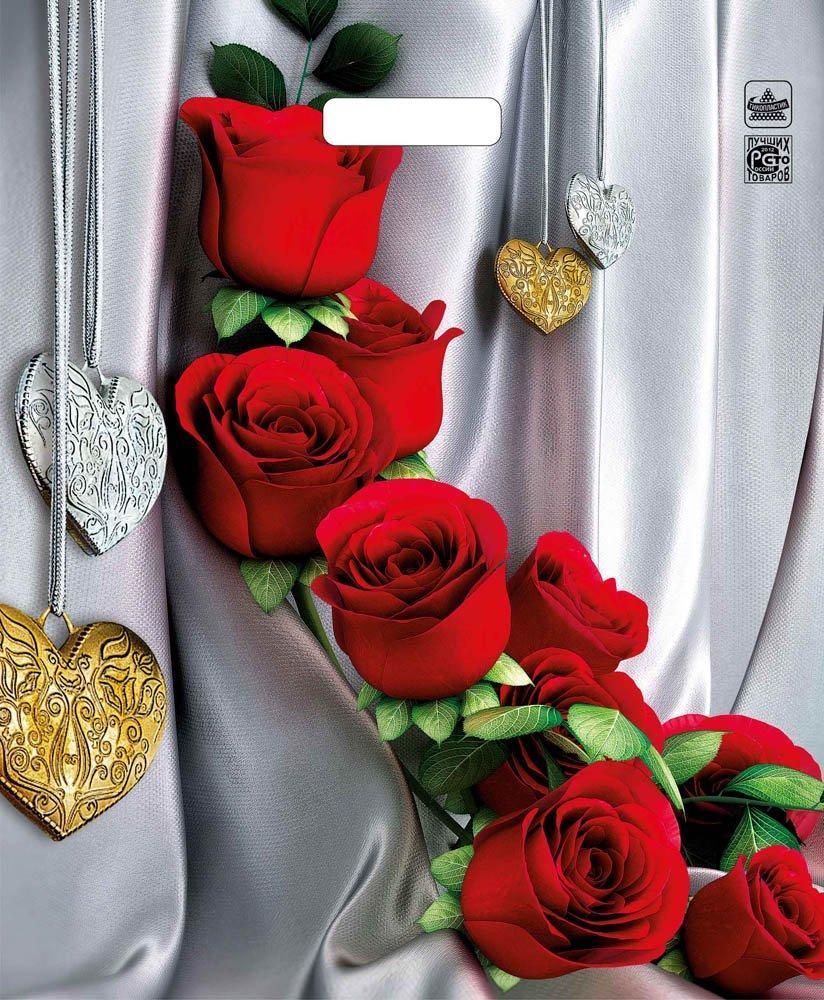 """Пакет (мешок) проруб. ПВД 45х38см, 60мкм, """"Цветы страсти"""", 50 шт"""