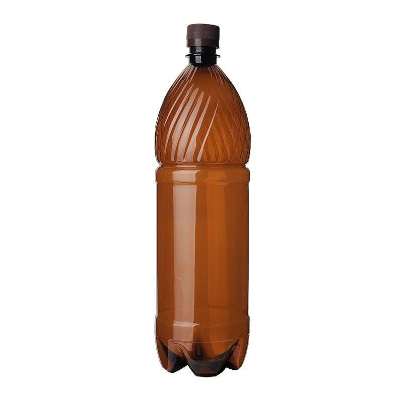 ПЭТ бутылка, коричн., 2 л с крышкой, 35 шт