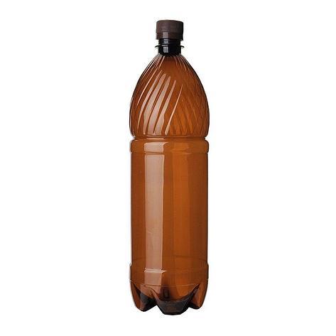 ПЭТ бутылка, коричн., 2 л с крышкой, 35 шт, фото 2