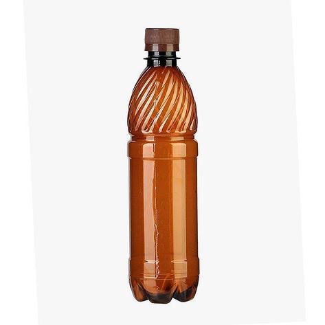 ПЭТ бутылка, коричн., 0.5 л с крышкой, 100 шт, фото 2