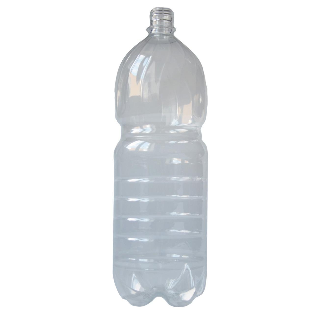 ПЭТ бутылка, прозрачная., 2 л с крышкой, 40 шт