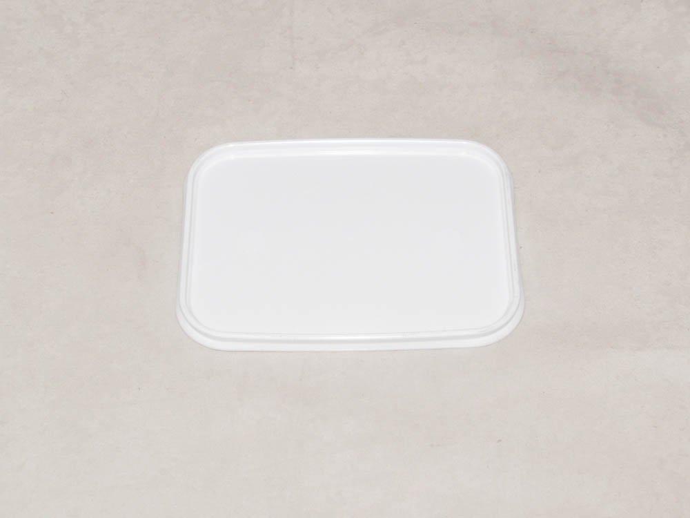 Крышка прес./мёд прямоуг. 120х91мм, белая, ПП, 1000 шт