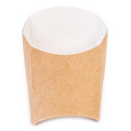 Коробка д/картоф фри ECO FRY M крафт 50х105х110мм, 1000 шт