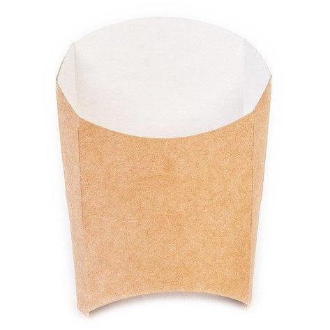 Коробка д/картоф фри ECO FRY M крафт 50х105х110мм, 1000 шт, фото 2